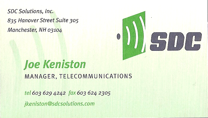 Fourth Business Card